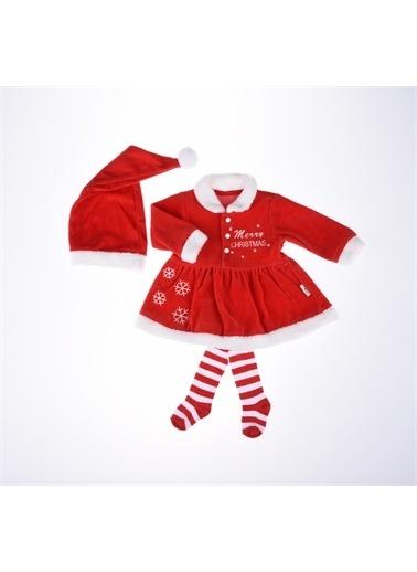 Necix's Necix's Çizgili Çoraplı Aylık Elbise Kız Kış-Kırmızı Necix's Çizgili Çoraplı Aylık Elbise Kız Kış-Kırmızı Kırmızı